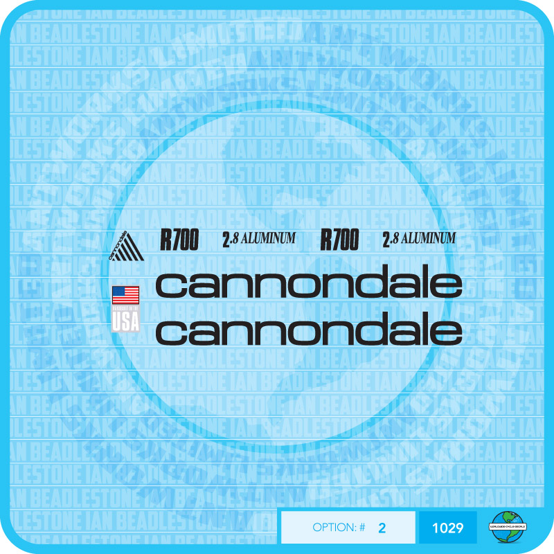 CANNONDALE CANNONDALE CANNONDALE r700 bicyclette Stickers Autocollants Transferts-Choix de 3 couleurs 6fa92d